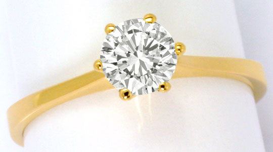 Foto 2, Brillant Ring 0,60ct Lupenreiner Solitaer IGI Expertise, R5098