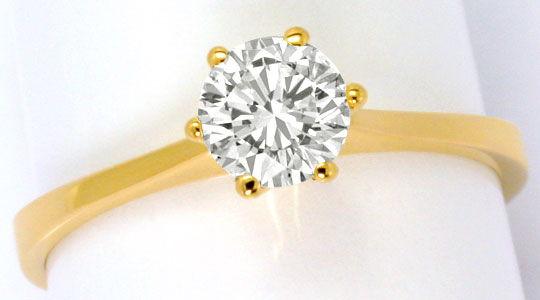 Brillantring  Brillant-Ring 0,60ct Lupenreiner Solitaer IGI-Expertise, R5098
