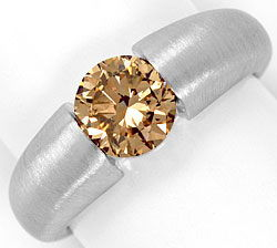 Foto 1, Brillant-Spannring 1,52ct Fancy Brown IGI-Gutachten 18K, R5127
