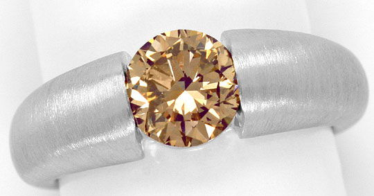 Foto 2, Brillant-Spannring 1,52ct Fancy Brown IGI-Gutachten 18K, R5127