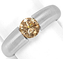 Foto 1, Massiver Brilliant Spannring 1,09ct Fancy Brown IGI 18K, R5380