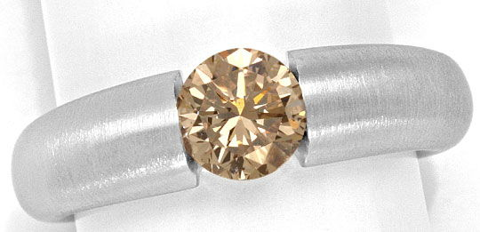 Foto 2, Massiver Brilliant Spannring 1,09ct Fancy Brown IGI 18K, R5380