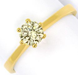 Foto 1, Krappen-Brillant-Ring 0,50 ct Solitär Gold-Farbton, 18K, R5381