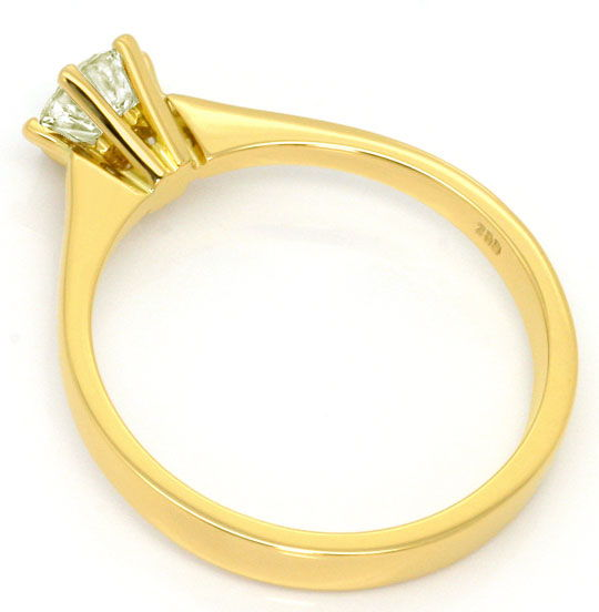 Foto 3, Krappen Brillant Ring 0,50 ct Solitär Gold Farbton, 18K, R5381