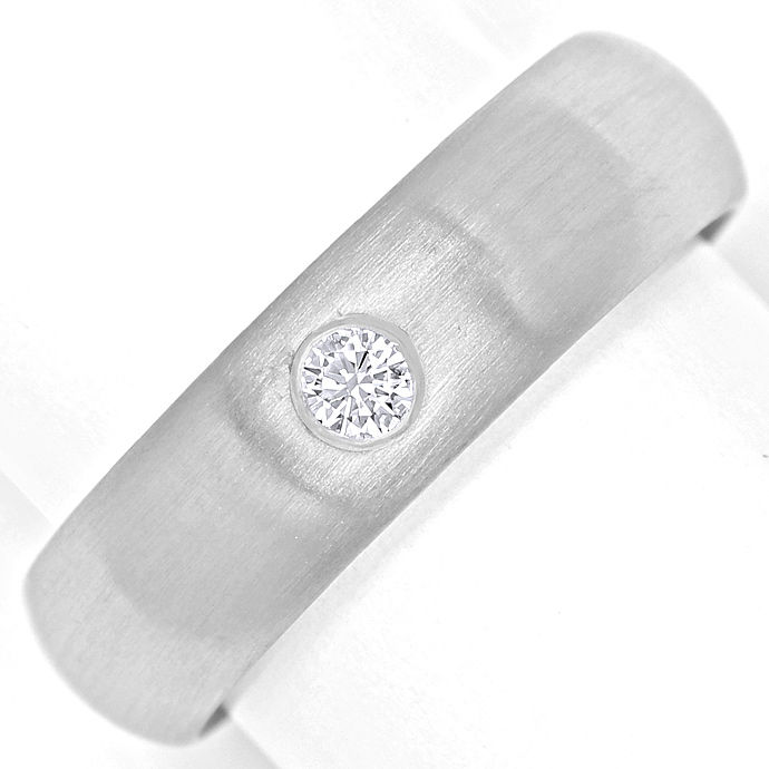 Niessing Diamant Platinring 0,10ct lupenreiner Brillant, Designer Ring