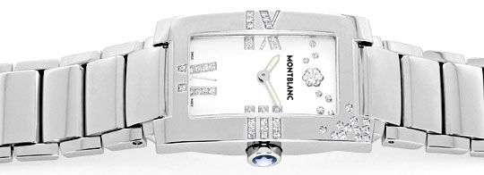 Foto 1 - Montblanc Profile Lady Elegance Diamonds Perlmutt Damen, R5492