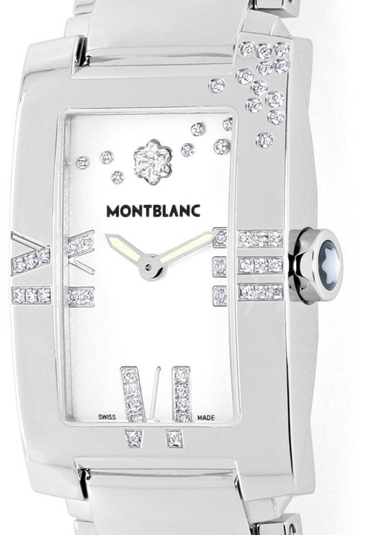 Foto 2, Montblanc Profile Lady Elegance Diamonds Perlmutt Damen, R5492