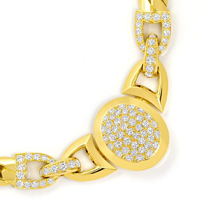 Foto 2, Original Cartier Collier Charleston Brillanten Gelbgold, R5736
