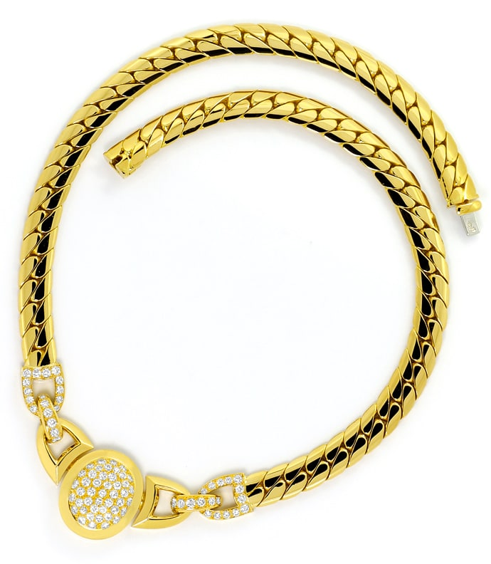 Foto 5, Original Cartier Collier Charleston Brillanten Gelbgold, R5736
