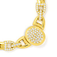 zum Artikel Original Cartier Collier Charleston Brillanten Gelbgold, R5736