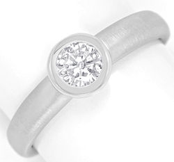 Foto 1, Weissgold-Ring Brillant-Solitaer 0,36ct Top Wesselton G, R5843