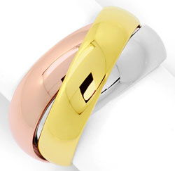Foto 1, Original Cartier Trinityring Gelbgold Rotgold Weissgold, R5846