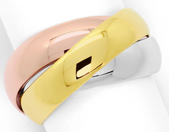 Foto 2, Original Cartier Trinityring Gelbgold Rotgold Weissgold, R5846