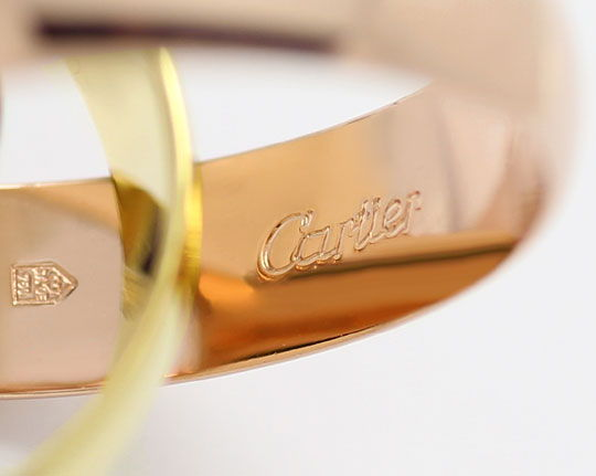 Foto 3, Original Cartier Trinityring Gelbgold Rotgold Weissgold, R5846