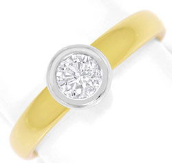 Foto 1 - Diamant Ring Brilliant Solitär River Gelbgold Weissgold, R5863