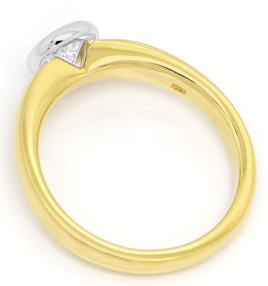 Foto 3, Diamant Ring Brillant Solitär 0,43ct Gelbgold Weissgold, R5864