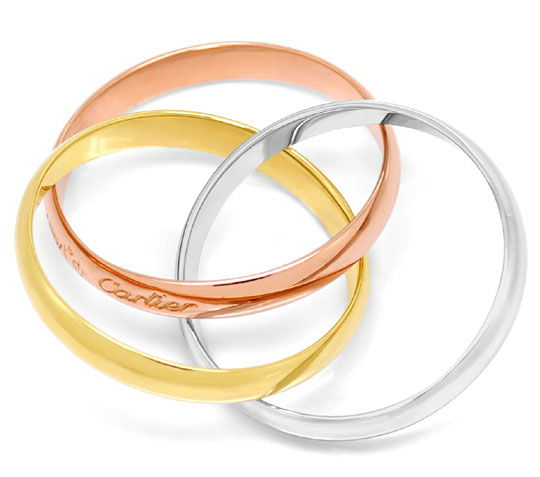 Foto 3, Original Les Must.de Cartier Trinity-Ring, Tricolor 18K, R5883