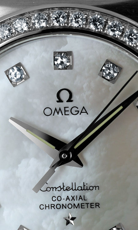 Foto 3, Omega Double Eagle Co Axial Auto Stahl Diamanten Medium, R5922