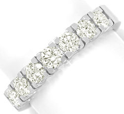 Foto 1 - Diamant Halbmemory Ring 1ct Brillanten massiv Weissgold, R5923
