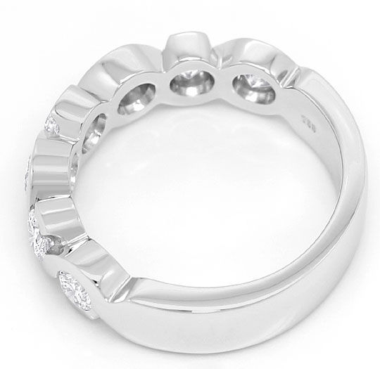 Foto 3 - Brillianten Halbmemory Ring 1,30ct massiv 18K Weissgold, R5950