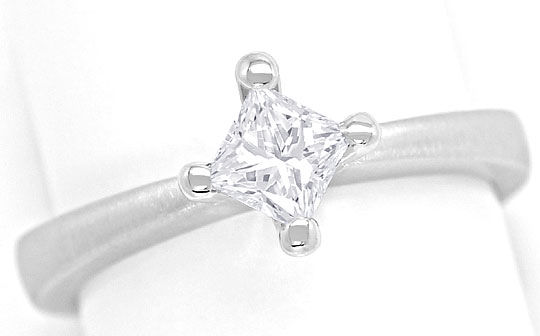 Foto 2 - Princess Diamant 0,57ct in 18K Weissgold Fassung massiv, R6059