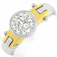 zum Artikel Brillant Solitär Design Ring 1,02ct 18K Bicolor Gold, R6101