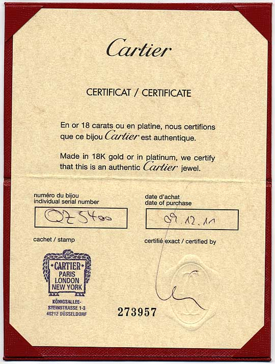 Foto 9, Cartier Diamants Legers.de Cartier Kollier 0,2 Brillant, R6132