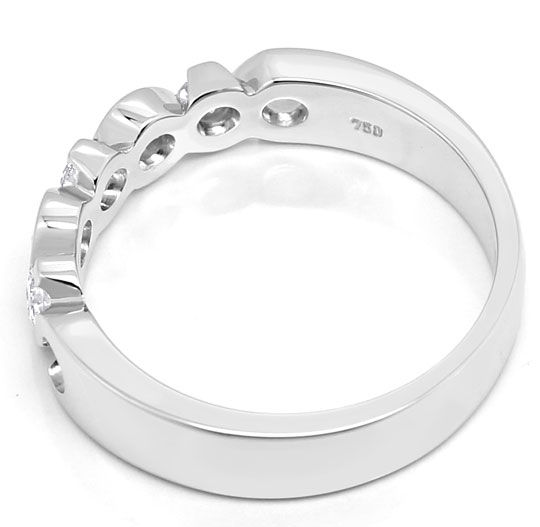 Foto 3, Brillant Halbmemory Ring 0,40ct in massiv Weissgold 18K, R6215