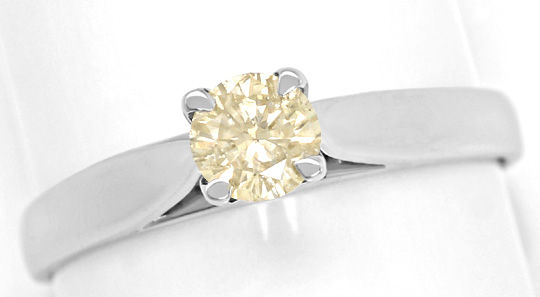 Foto 2, Brillant-Solitärring 0,36ct Fancy Intense Orangy Yellow, R6352