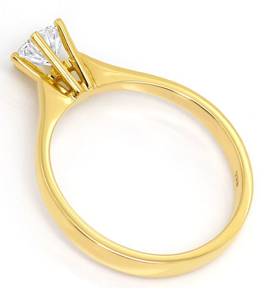 Foto 3, Funkelnder Brillant-Solitär 0,57ct in 18K Gelbgold-Ring, R6513