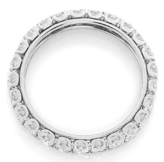 Foto 3 - Vollmemory Ring mit 1,4 Carat River Diamanten in Platin, R6710