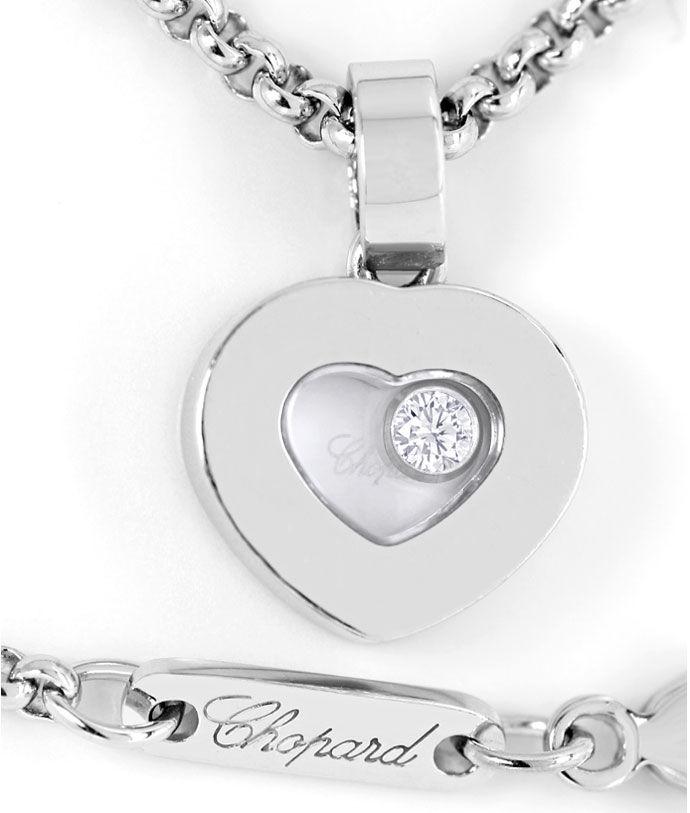 Weißgold kette mit herz  Chopard Happy Diamonds Herz-Anhänger an Kette Weissgold, R6801