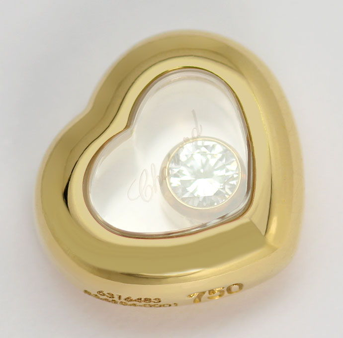 Foto 2, Chopard Happy Diamonds Ohrstecker Bewegliche Brillanten, R6809