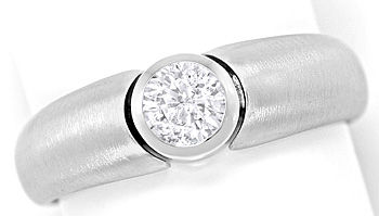 Foto 1, Brillant-Solitaer 0,47ct in massivem Weissgold-Ring 18K, R6841