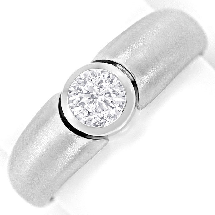 Foto 2, Brillant Solitaer 0,47ct in massivem Weissgold Ring 18K, R6841