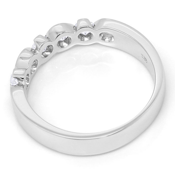 Foto 3, Halbmemory Ring mit 0,47ct Brillianten in 18K Weissgold, R6859
