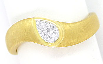 Foto 1, Design Ring mit 0,36ct Diamant Tropfen in Top Wesselton, R7022