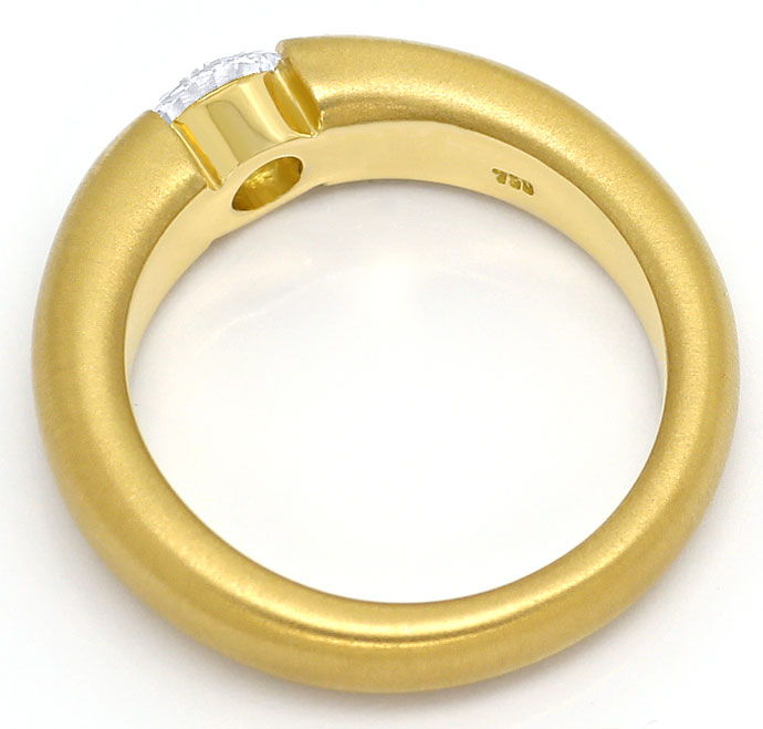 Foto 3, Massiver Spannring mit 0,56ct Brilliant in 18K Gelbgold, R7023