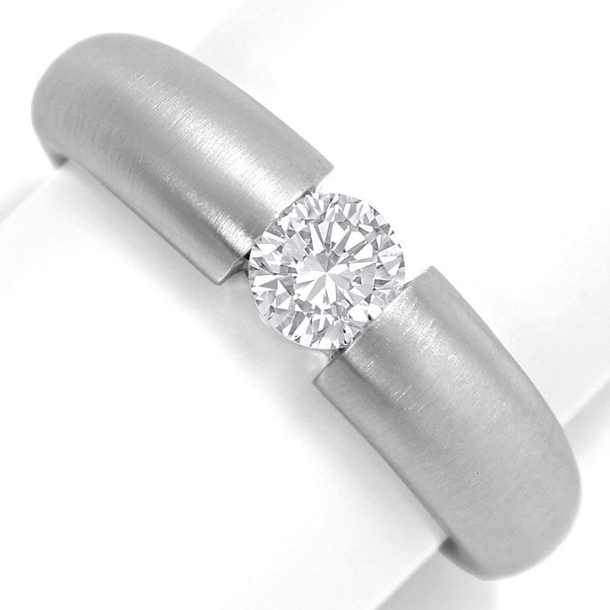 Foto 2 - Spannring mit 0,48 ct Brilliant in massiv 18K Weissgold, R7069