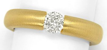 Foto 1, Brillant-Spannring mit 0,40ct Brillant, massiv 18K Gold, R7108