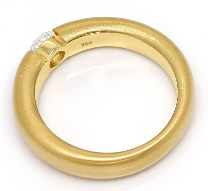 Foto 3, Brillant-Spannring mit 0,40ct Brillant, massiv 18K Gold, R7108