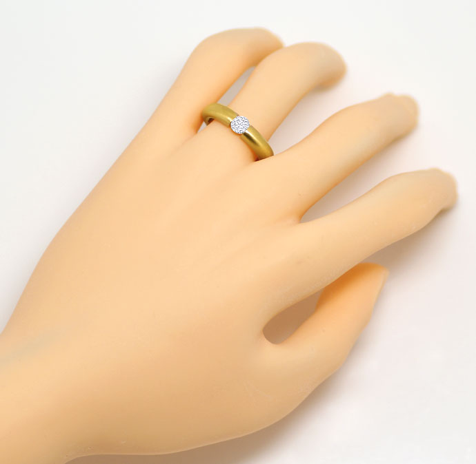 Foto 4, Brillant-Spannring mit 0,40ct Brillant, massiv 18K Gold, R7108