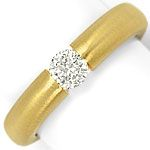 Brillant Spannring mit 0,40ct Brillant, massiv 18K Gold