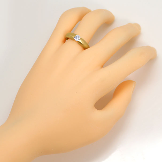 Foto 4, Massiver Gelbgold Spannring mit 0,45ct Brilliant in 18K, R7109