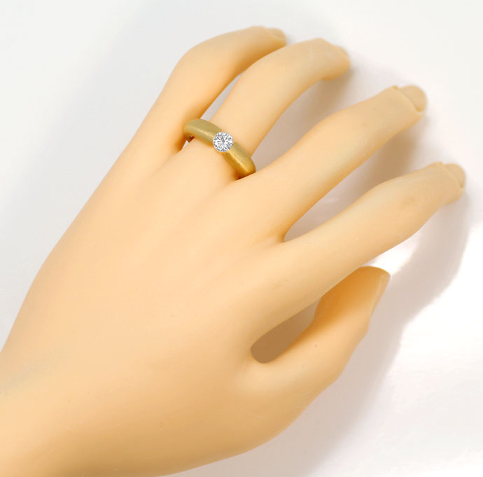 Foto 4, Massiver Gelbgold-Spannring mit 0,48ct Brilliant in 18K, R7210