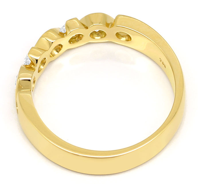 Foto 3, Halbmemoryring mit 0,44ct Brillanten in massiv 18K Gold, R7321