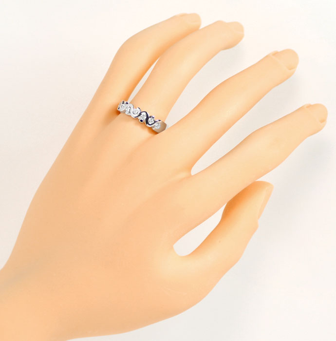 Foto 4, Allianz Brillianten Ring mit 0,33ct in massiv Weissgold, R7325
