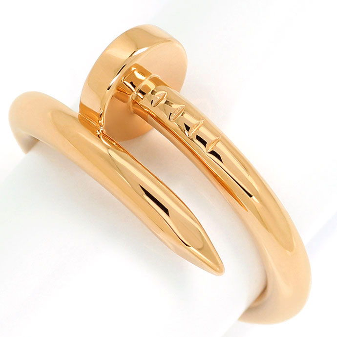 Foto 2, Original Cartier Juste Un Clou Nagelring in Rotgold 18K, R7371