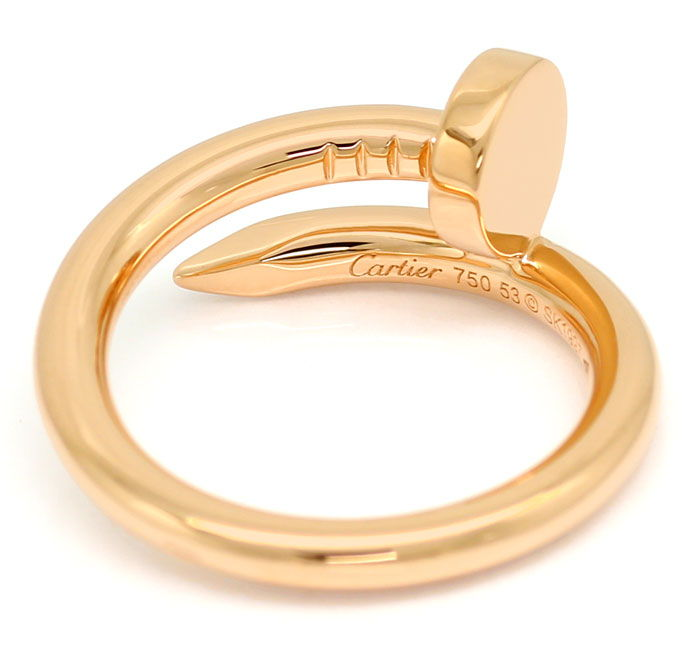 Foto 3, Original Cartier Juste Un Clou Nagelring in Rotgold 18K, R7371