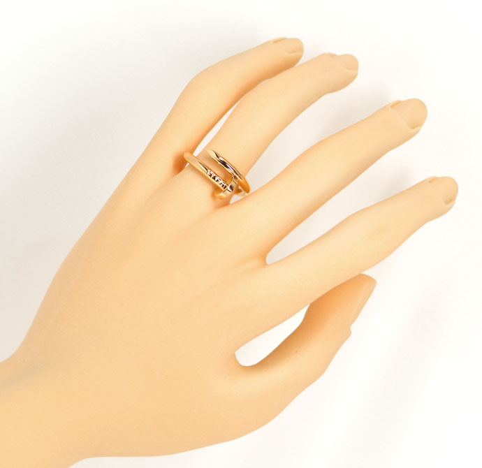 Foto 4, Original Cartier Juste Un Clou Nagelring in Rotgold 18K, R7371